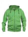 Basic-Hoodie-FullZip-Herr-Apple-Green
